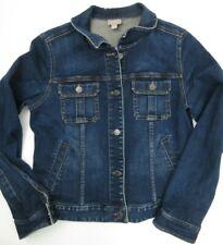 J Jill Stretch Denim Blue Jean Jacket Women's Size S