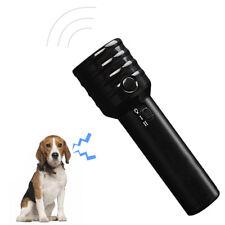 Ultrasonic Attacks Repeller High Power Dog Training Stop Baking Device Flashligh