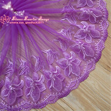 Floral Tulle Lace Trim Ribbon Fabric Embroidery Wedding Trim Sewing Craft FL174