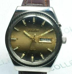 Vintage Ricoh Mechanical Automatic Two Tone Dial  Mens Wrist Watch WU401 A