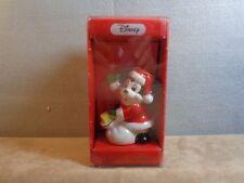New listing Vintage Disney Schmid Mickey Mouse Santa w/toy sack ceramic Ornament Japan