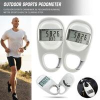 Outdoor Sports Calorie 3D Carabiner Pedometer Running Sport Step Counter Meter