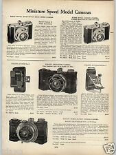 1938 PAPER AD Miniature Rolls Model Candid Falcon Action Folding