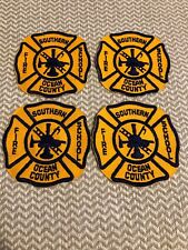 NEW JERSEY SOUTHERN OCEAN COUNTY FIRE SCHOOL PATCH LOT OF-(4)!!!!!!