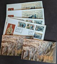 EDW1949SELL : CHINA PRC 1983 Terracotta Fig 2 Cplt bklts & 2 FDC of set & S/S
