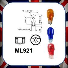 SET OF 2 NEW BLUE T15 12v 21w Capless Brake 921 (High Level Brake Light) Bulb