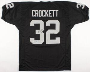 Zack Crockett Signed Raiders Jersey (Pro Player Holo) Oakland Fullback 1999-2006
