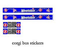 Corgi Diecast Toys Bus Stickers