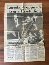 x76 LOREDANA BERTÈ Articolo di giornale Svezia 1988