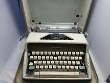 VINTAGE Olympia Typewriter 1960's SM7 w/ hard case & key W. Germany WORKS GREAT