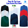 FRUIT OF THE LOOM New Premium Long Sleeve Polo Work Cotton Leisure Men's Top
