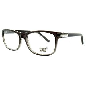 Montblanc MB0532 020 Gray Rectangular Optical Frames Eyeglasses