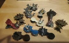 Lot of 11 Unique Antique Metal Tin Christmas Tree Real Clip On Candle Holders