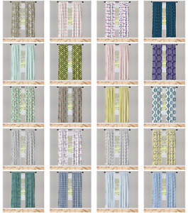 Microfiber Curtain 2 Panel Decorative Accent for Living Room Bedroom by