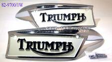 Triumph Tank badges 82-9700 82-9701 pair F9700 F9701 Tankembleme ab1967 & OIF US
