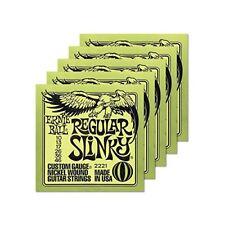 "5 x Ernie Ball 2221 Regular Slinky Satz 010""-046"