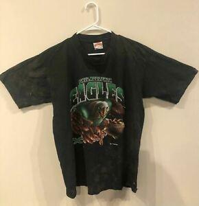 PHILADELPHIA EAGLES Black Graphic Tee Shirt XL Pre Owned 1994