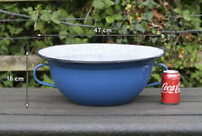 More details for vintage old enamel pot pan washing bowl  - free postage