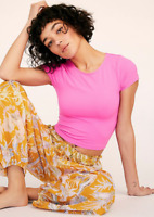 NEW Free People Intimately Seamless Cap Sleeve Cami in Pink Sz XS/S-M/L $26.50