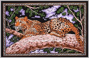 Tiger Print Tapestry Wall Hanging Throw Poster Flag Cotton Textile Indian Decor