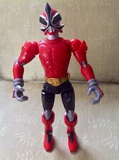 "Power Rangers Samurai Battlized Ranger Rojo 10"" Acción Figura Bandai 2010 Sonidos!"