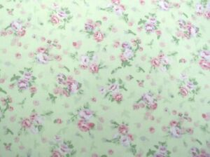 "Vicky's Stash PRE-WASHED 60"" x 60"" House, Inc.™ Cotton Poplin Light Green Fabric"