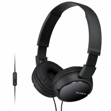 Sony MDR-ZX110AP Extra Bass auriculares con micrófono para iPhone & Android (Negro)