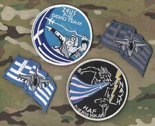 GREEK HELLENIC AIR FORCE HAF F-16 Zeús Δίας DEMO TEAM burdock-hook 4-PATCH SET