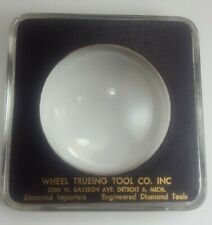 Paperweight Magnifying Glass Wheel Trueing Tool Co.Ad Promo Detroit, Mi Vintage
