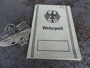 Wehrpass, Heer Bundeswehr, BW, mit Erkennungsmarke, Konvolut