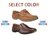 TIMBERLAND MEN'S ANNAPOLIS 2 EYE MOC TOE  LEATHER BOAT SHOES SELECT COLOR