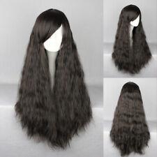 Ladieshair Cosplay Wig Perücke schwarz 70cm lockig Halloween Karneval GTC