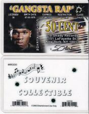 Gangsta Rap Rapper 50 Cent drivers license identification id i.d card driver's