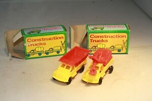 1960s Excavator & Dump Truck Set Made in Hong Kong Mint in Box