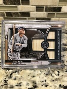 2021 Topps Museum Baseball Babe Ruth Quad Game Used Bat Relic 04/25!