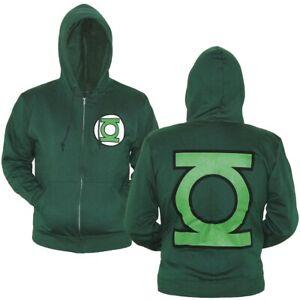 Green Lantern Symbol Zip-Up Hoodie