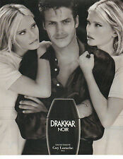 Publicité Advertising 1996  Parfum  DRAKKAR NOIR eau de toilette GUY LAROCHE