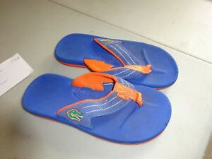 Rainbow womens flip flops Florida Gators Gator size 6 blue and orange