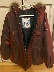 Italian made, 'Postcard' woman's metallic burgundy ski jacket. Excellent cond.