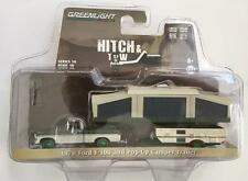 CHASE GREENLIGHT 32100 B 1970 Ford F-100 w/ Pop-Up Camper Trailer Diecast 1:64