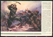 Militari 71º Fanteria Puglie Medaglia Oro Ottolini Tafuri FG cartolina XF4143