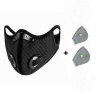 Masque Vélo masque Poussière Masque Protection Bouche Sports avec avec 2 Filtre