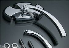 Specchietto croce malta in alluminio billet x Harley Davidson Custom Chopper NEW