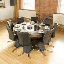 Elm Round Table & Chair Sets with 8 Seats