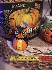 BNWT Johanna Parker Owl Pumpkin Peep Figure