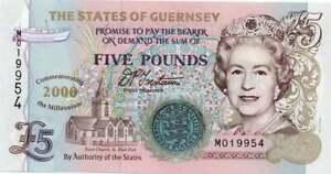 Guernsey 5 Pounds, P60, Commemorative Banknote, UNC, Paper Money, 5 pound note