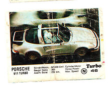 TURBO 1st 1-50 #46_2 - VERY RARE BUBBLE GUM CHEWING WRAPPER INSERTS PICS VINTAGE