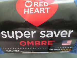 Red Heart Super Saver Ombre TRUE BLUE 10 oz 100% Acrylic 452 yds Worsted Wt #4