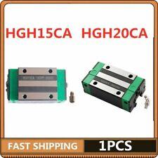 1x Hgh15ca Hgh20ca Carriage Rail Block Slider Cnc Linear Rail Guide Low Noise Us