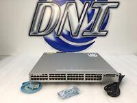Cisco WS-C3850-48F-E 48 Port Gigabit Ethernet PoE+ Switch PWR-C1-1100WAC GE KCK